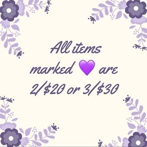 Other - 💜 is 2/$20 or 3/$30